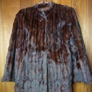 Big Fur Coat Faux Fur Unbranded Fur Brown Jacket